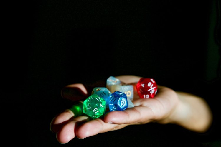 Dungeons and dragons dice for gamers